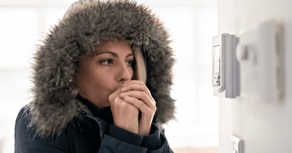 Woman in Cold Home | Lee Mechanical