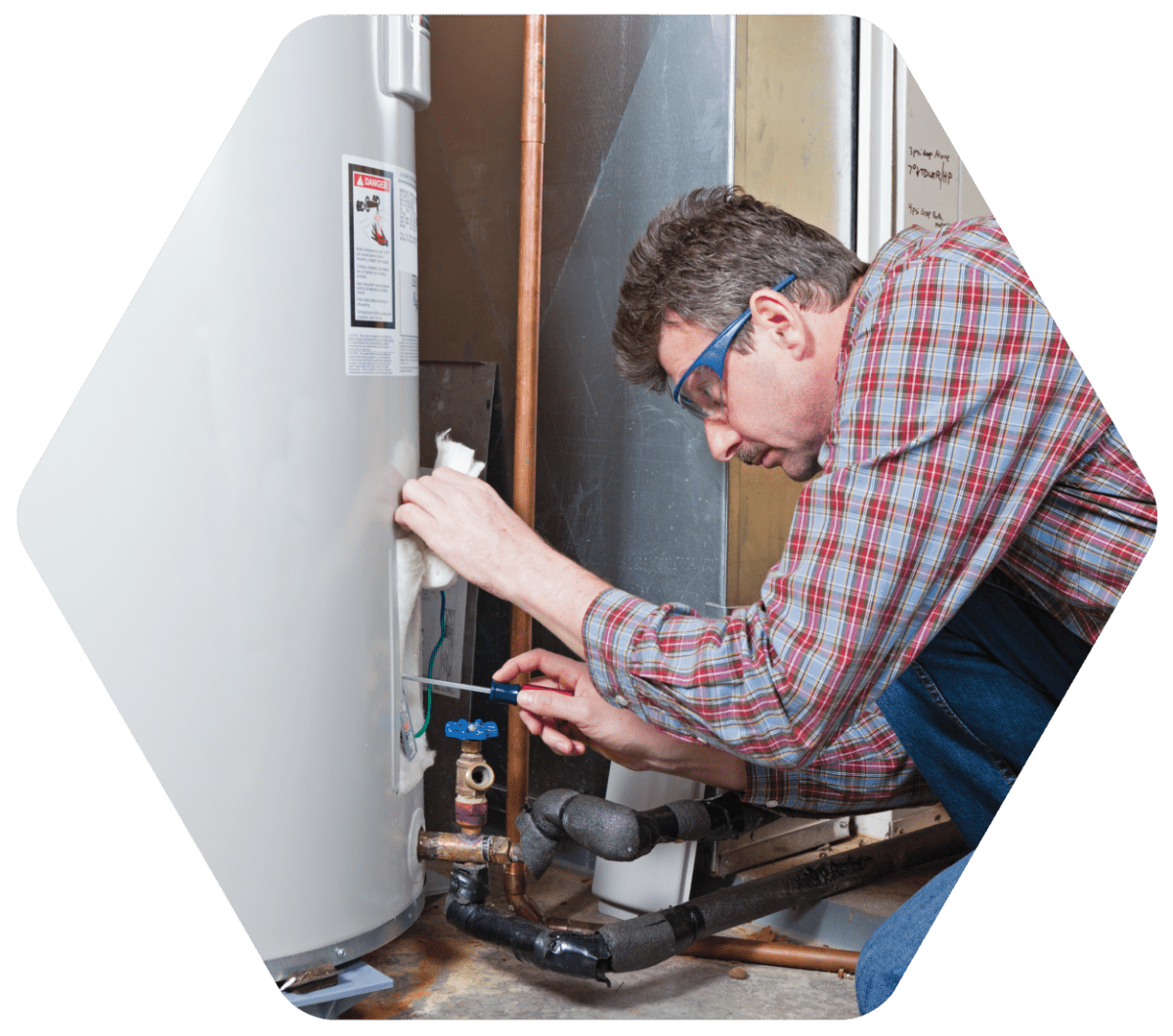 Plumber Fixing Water Heater | Lee Mechanical