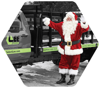 Fill The Truck with Santa | Lee Mechanical