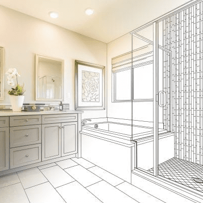 Bathroom Remodel Sketch | Lee Mechanical