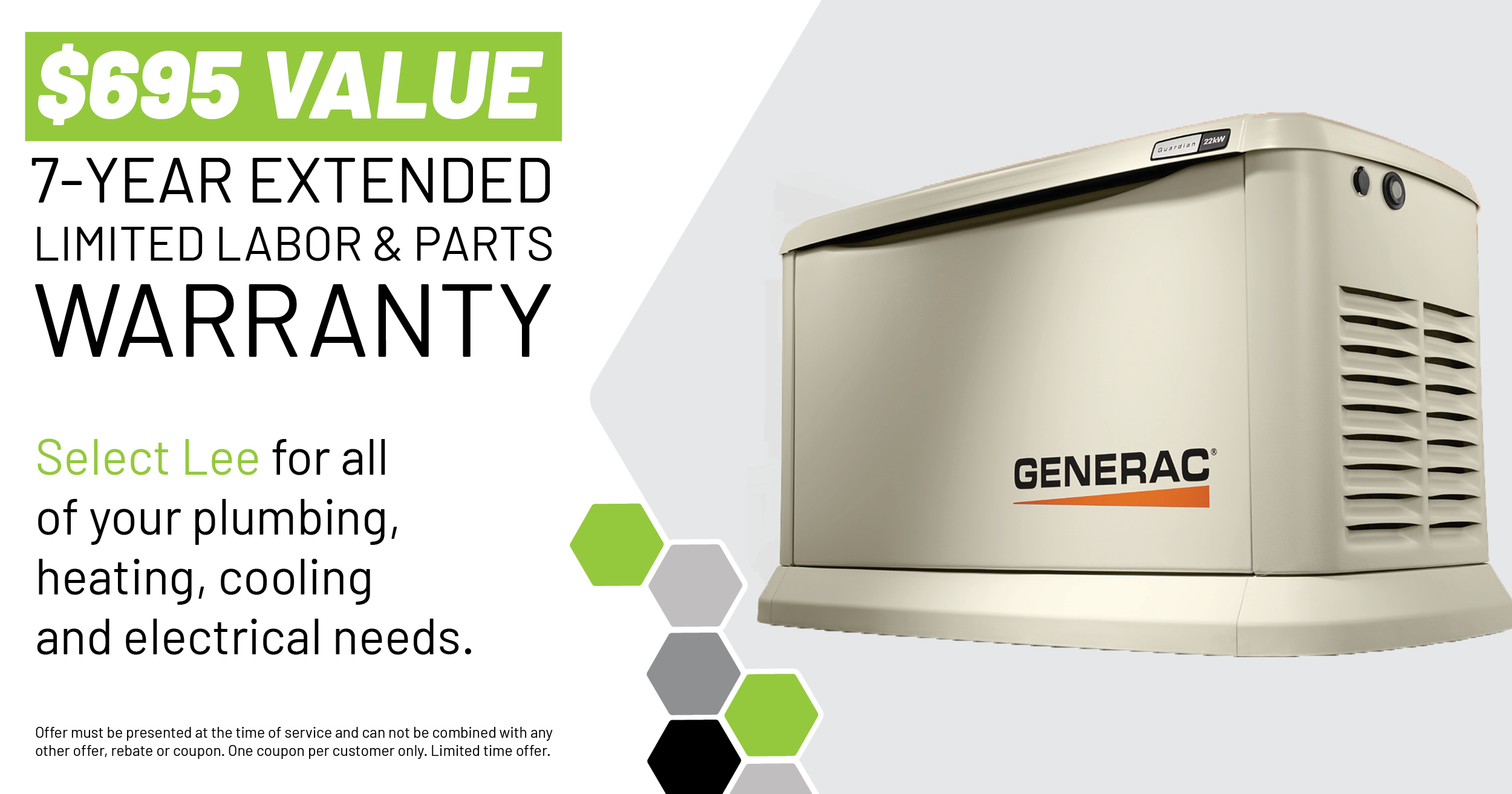Generac Warranty Special | Lee Mechanical