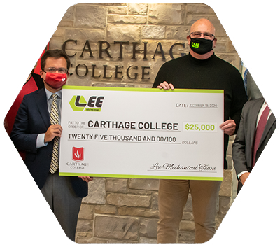 Lee Donates to Carthage | Lee Mechanical